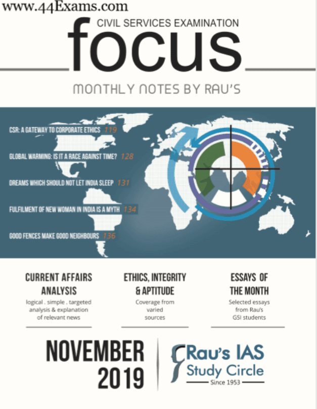 Focus-Monthly-Notes-November-2019-by-RAUS-For-UPSC-Exam-PDF-Book