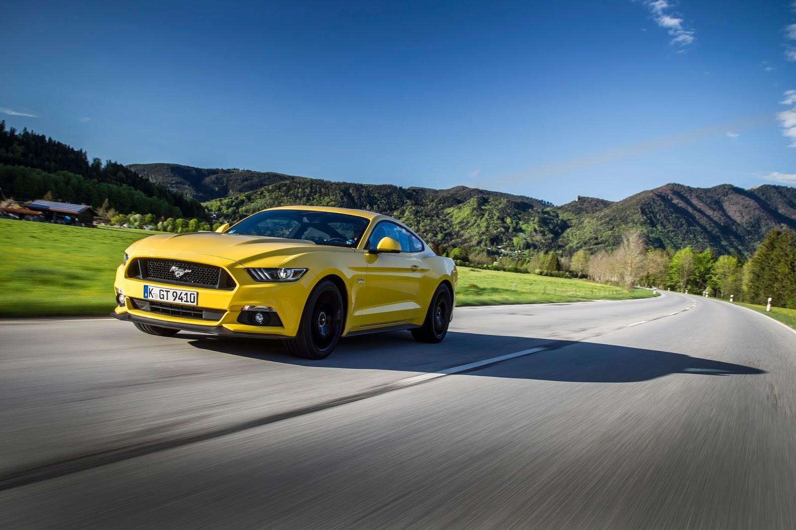 FordMustang Fastback Yellow 01 Δες το τετρακίνητο Ford Focus RS και την νέα Mustang παρέα με όλα τα Ford στην έκθεση αυτοκινήτου 2015