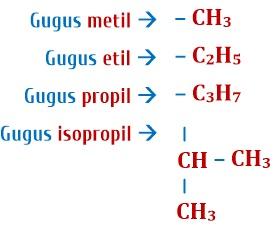 gugus alkil senyawa hidrokarbon