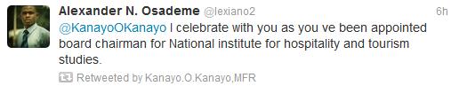 Untitled Nollywood To Politics: Kanayo O Kanayo Gets Appointment From President Jonathan