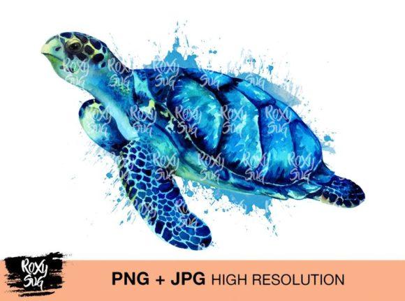 Sea Turtle Clipart Graphic
