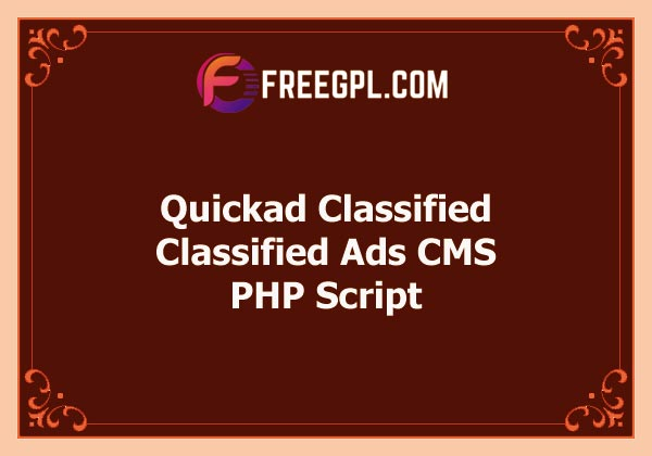 Quickad Classified - Classified Ads CMS PHP Script Free Download