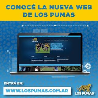 La UAR presentó la web oficial de Los Pumas