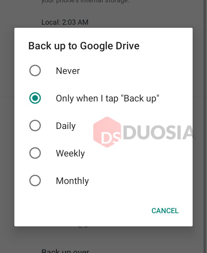 backup data whatsapp iphone ke android