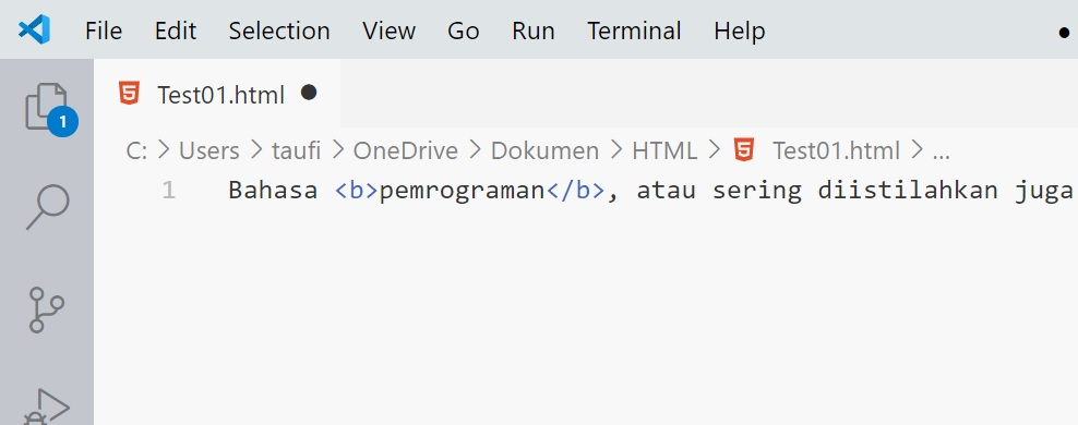 vs code html
