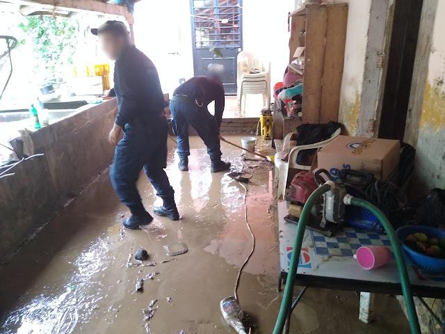 En acción interinstitucional, se realizan labores ante afectaciones por lluvias en Coahuayana