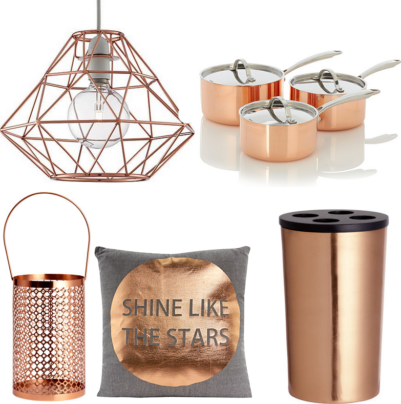 Inspiration Rose Gold Copper Homeware Hello Teddy