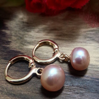 Anting Rhodium Mutiara Tawar