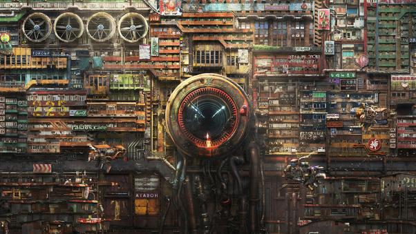 Cidade Cyberpunk do Futuro