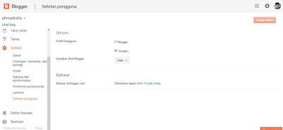 Langkah settingan Blogger untuk membuat Blog baru