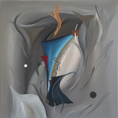 Abstract painting bij Olivier Hijmans