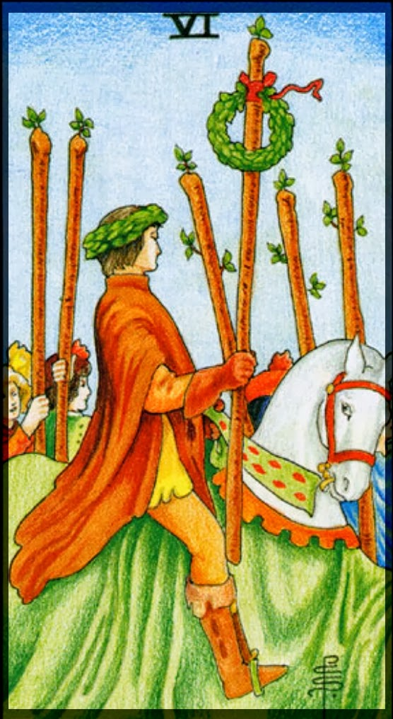 six of wands Universal Rider Waite