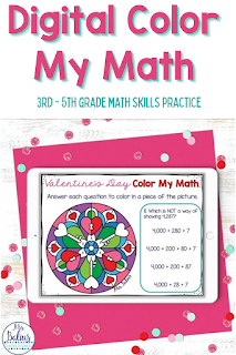 Color by Math is a digital color by number style activity to help 3rd - 5th grade students review important math skills.