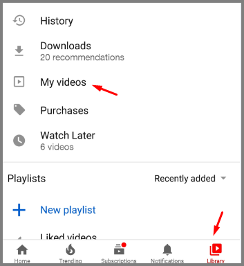 find unlisted youtube video_mobile app