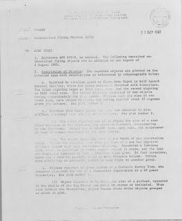 UFO Sighting Over Missile Silo in Nebraska (Pg 1) 8-26-1965