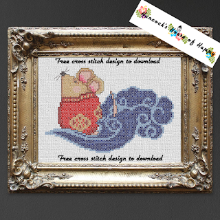 free Chinese rat cross stitch pattern