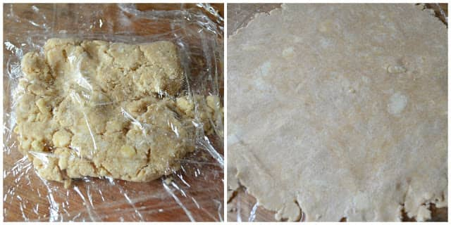 Rolled Flaky Pie Crust Dough for Homemade Chicken Pot Pie.
