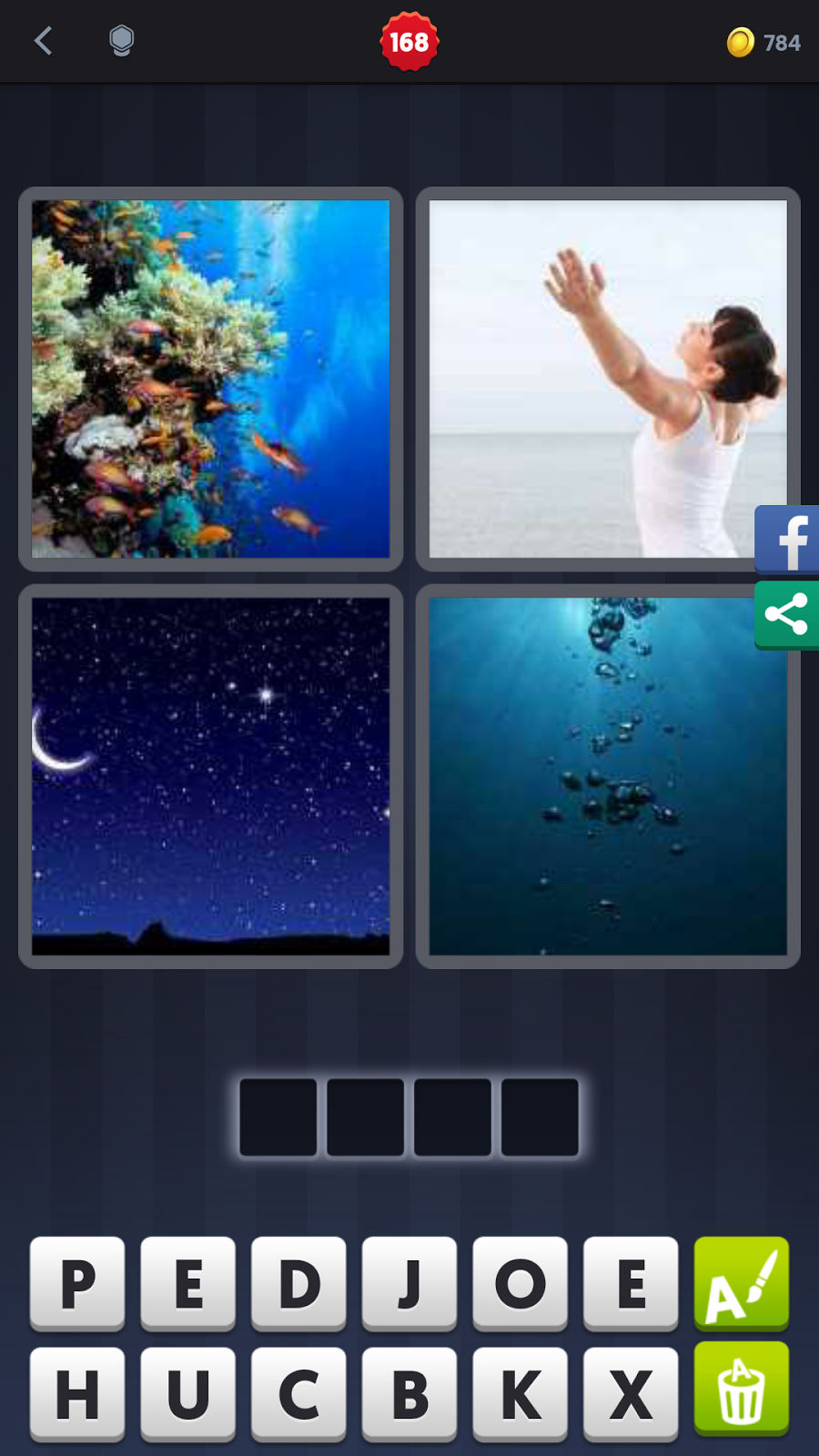 4 Pics 1 Word Answers Solutions Level 168 Deep