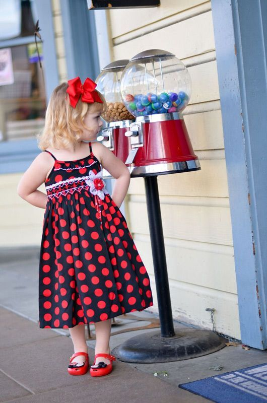 Black and Red Polkadot Dress Image 17