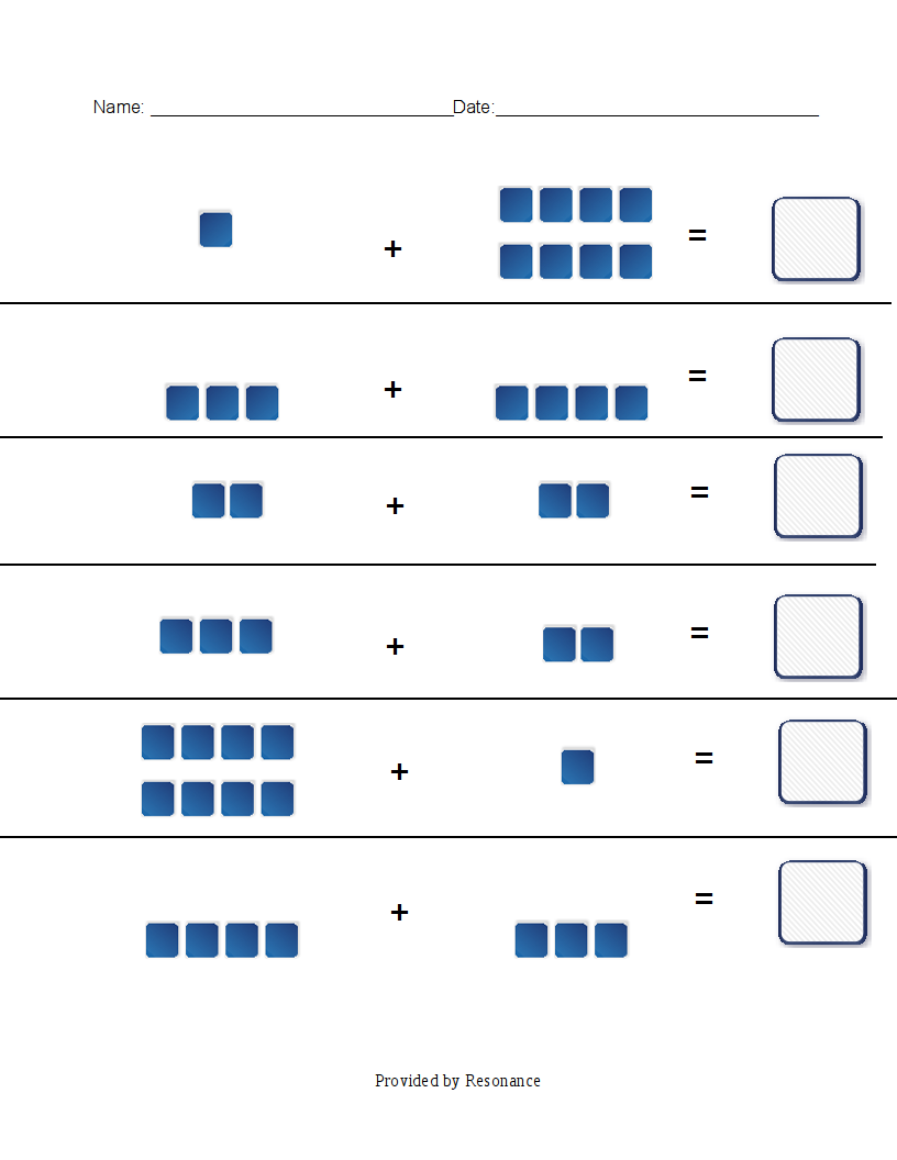 Countingblocks on counting worksheets