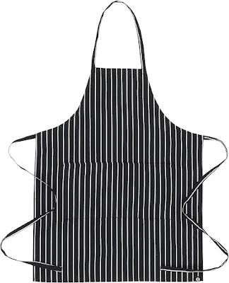 Chef Works basic striped apron receives solid reviews from users. Perfect for the apron-wearing man in your household.