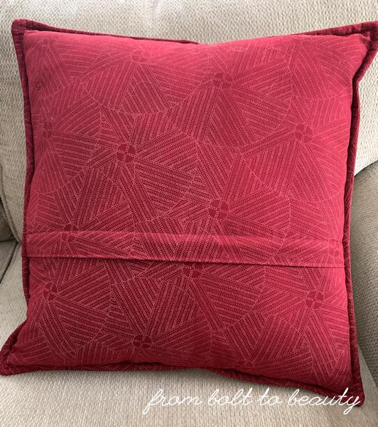 Zipper enclosure on my pillow