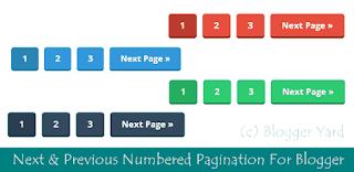 15) اضافة ترقيم الصفحات لمدونتك بتقنية رائعة