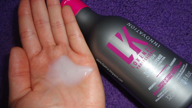 textura do shampoo total defense da lokenzzi professional