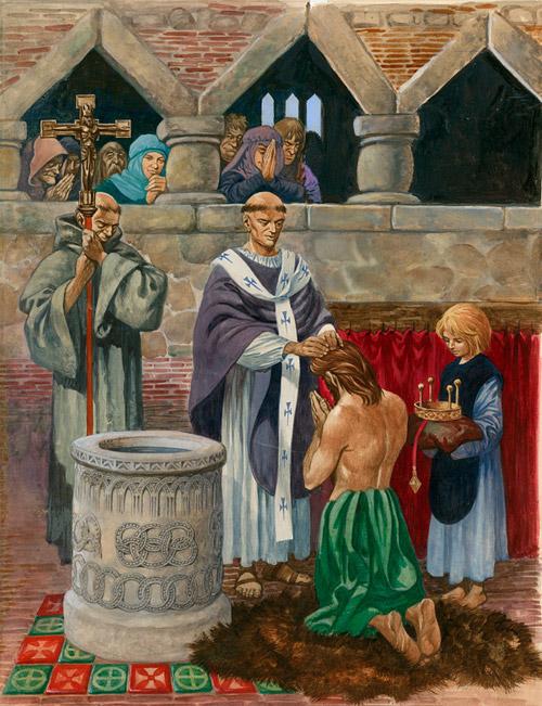 La foi catholique d`Angleterre – un rapide aperçu historique (musique et vidéo) St-augustine-baptizing-king-ethelbert