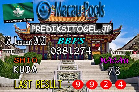 Prediksi Togel Wangsit Macau Pools Senin 18 Januari 2021