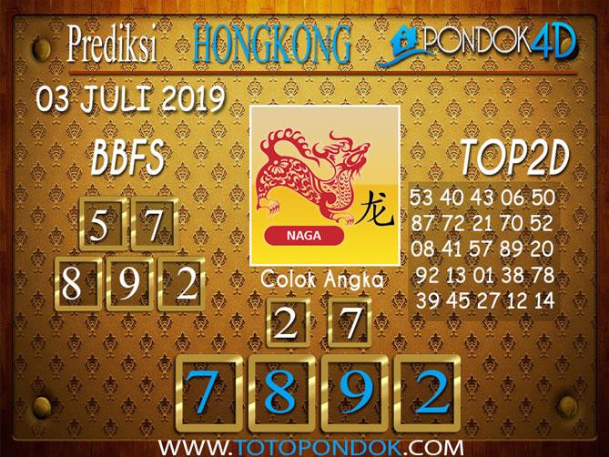 Prediksi Togel HONGKONG PONDOK4D 03 JULI  2019
