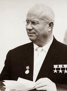 Nikita Kruscev, foto scattata a Berlino Est nel 1963.