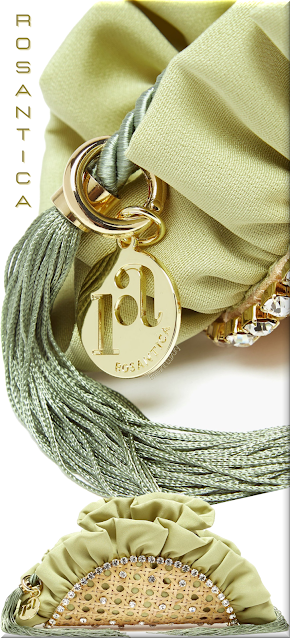 Rosantica green Taco crystal-embellished tassel clutch bag #bags #eveningbags #rosantica #brilliantluxury