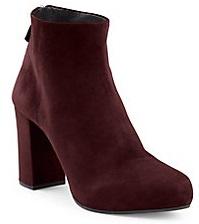 Prada Sued Block Heel Booties