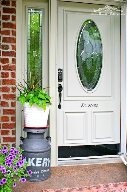 Fusion Mineral Paint Front Door Refresh, Bliss-Ranch.com