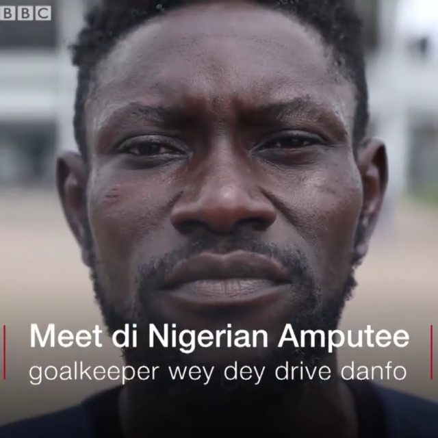 Meet Victor Sani, A Nigerian Amputee who is a Footballer, Goalkeeper, Bus Driver, Hustler. #BeInspired!