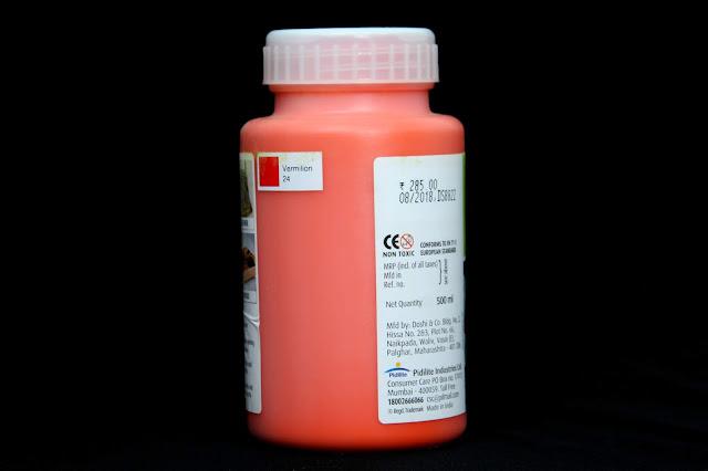 fevicryl fabric colour vermilion 24