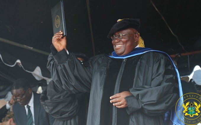 President Akufo-Addo receives Honorary Doctorate Degree from University of Liberia