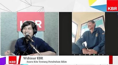 Webinar KBR tentang perubahan iklim di Indonesia