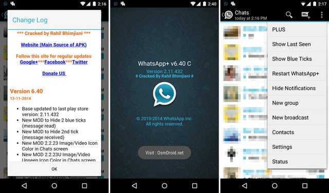 free download whatsapp plus cracked for android