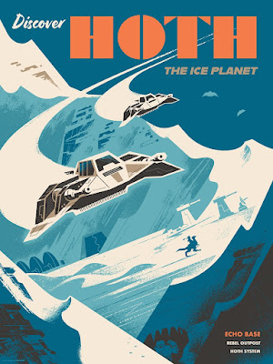 """San Diego Comic-Con 2021 Exclusive Star Wars """"Discover Hoth"""" Screen Print by Russell Gray x Bottleneck Gallery"""