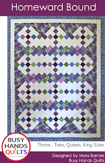 Homeward Bound Quilt Pattern by Myra Barnes of Busy Hands Quilts
