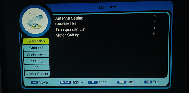 NEOSET NS-60D ASPIRE HD RECEIVER DUMP FILE