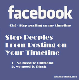Stop peoples from posting on your timeline