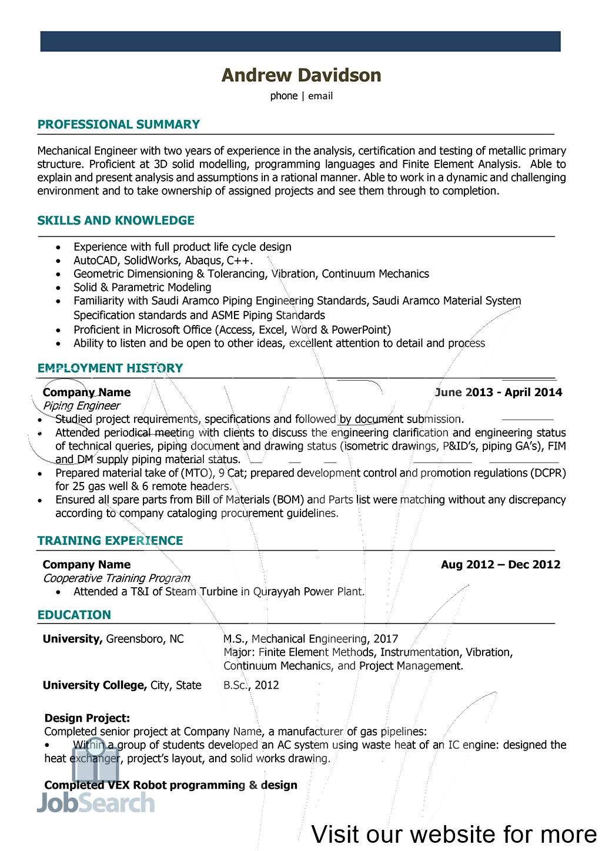 Resume For Engineering Internship Students Resume Templates 2020