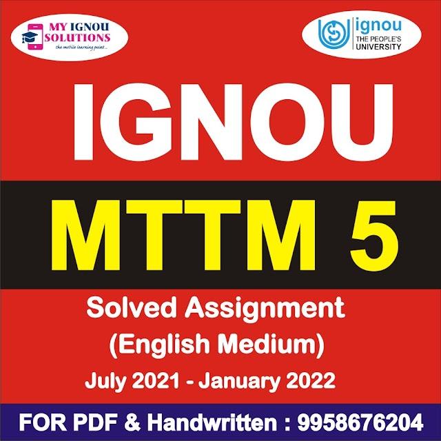 MTTM 5 Solved Assignment 2021-22