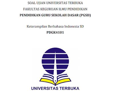 Contoh Soal Ujian Keterampilan berbahasa Indonesia Semester 4 lengkap beserta Kunci Jawaban S1 PGSD, https://www.guruenjoy.com