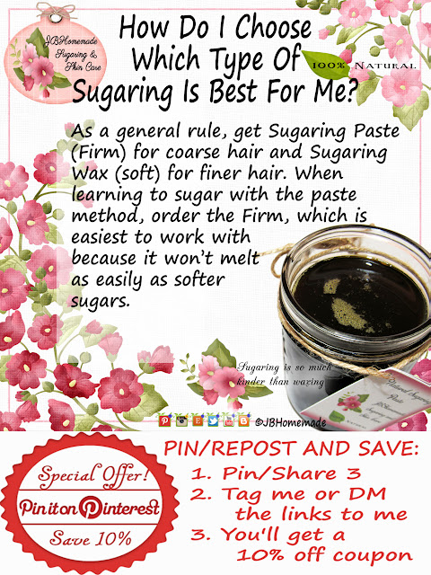 How Do I Choose Which Type Of Sugaring Is Best For Me? As a general rule, get Sugaring Paste (Firm) for coarse hair and Sugaring Wax (soft) for finer hair. When learning to sugar with the paste method, order the Firm, which is easiest to work with because it won't melt as easily as softer sugars.