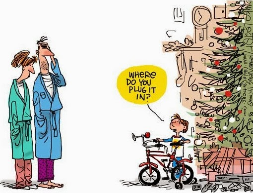 Funny Kid Christmas Bike Present - where do you plug it in?