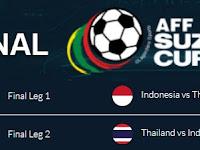 Jadwal Final Piala AFF 2016 Suzuki Cup Indonesia vs Thailand